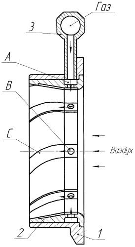 Газовоздушный смеситель для двигателя внутреннего сгорания
