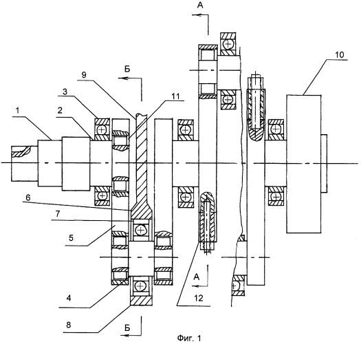 Коленчатый вал для четырехтактного двигателя внутреннего сгорания