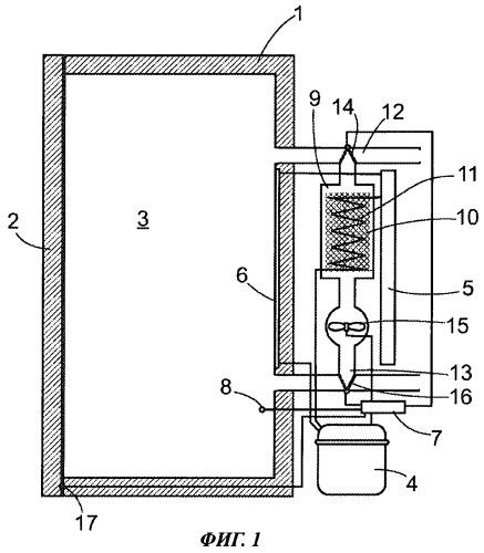 Холодильный аппарат с влагоотделителем и способ работы холодильного аппарата