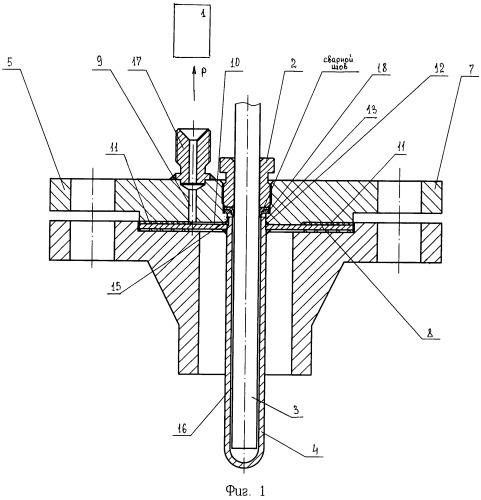 Устройство диагностики состояния фланцевой защитной гильзы термопреобразователя