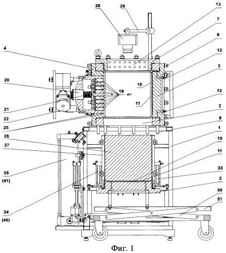 Прибор трехосного сжатия с измерением контактных напряжений