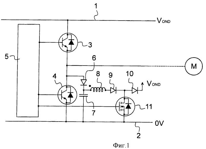 Схема активной амортизации для электрической схемы прерывателя