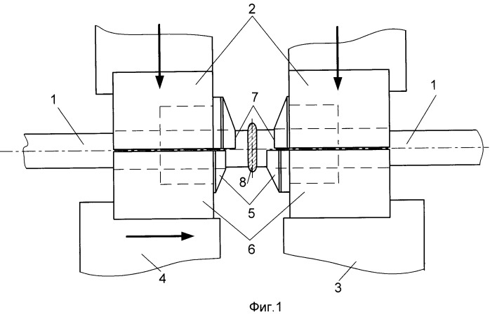 Способ контактной стыковой сварки оплавлением изделий круглого сечения с последующим удалением грата