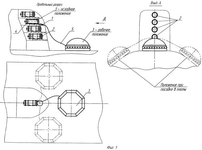 Способ размещения и использования комплекса спасательного универсального надводного