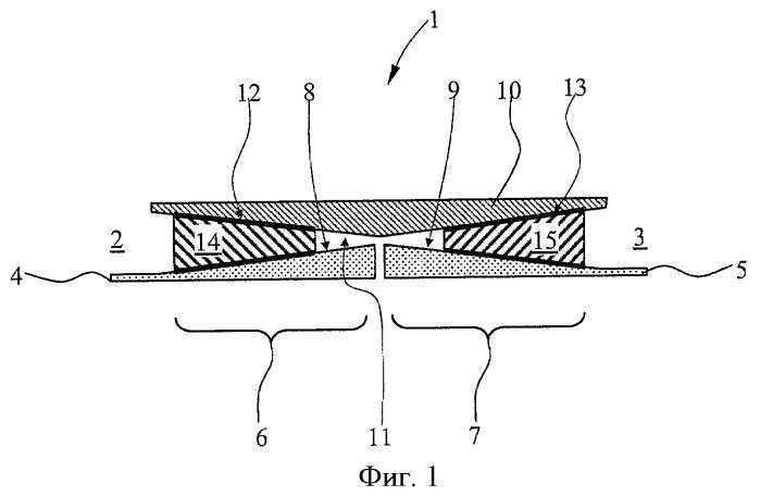 Поперечно-стыковое соединение двух фюзеляжных секций