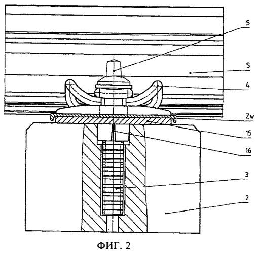 Точка опоры рельса и рельсовое скрепление на деревянной шпале