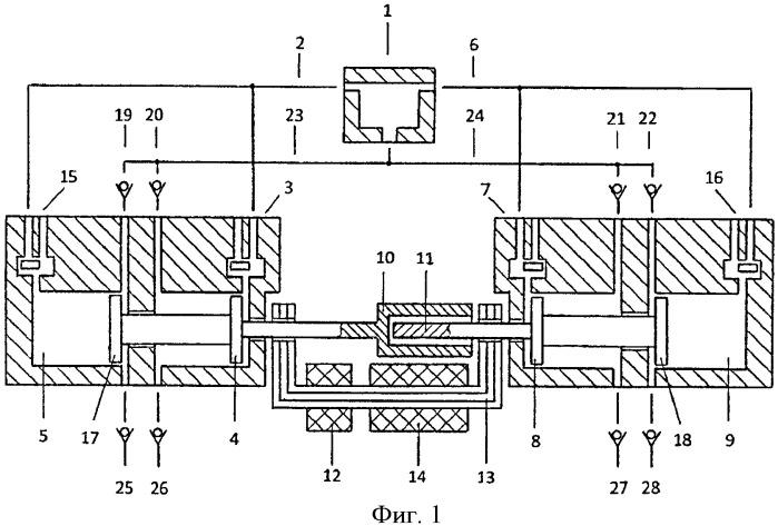Свободнопоршневой двухцилиндровый с общей внешней камерой сгорания и линейным электрогенератором энергомодуль двойного назначения