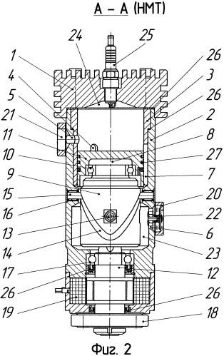 Бескривошипный двухтактный двигатель внутреннего сгорания