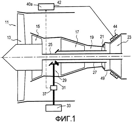 Способ отбора вспомогательной мощности от турбореактивного двигателя самолета и турбореактивный двигатель, пригодный для осуществления такого способа