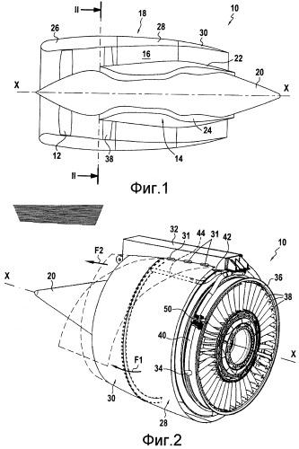 Перепускная турбомашина с уменьшенным шумом струи