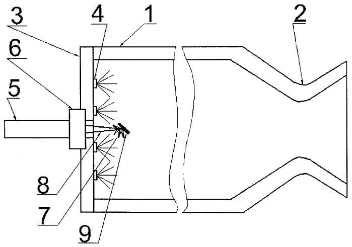 Камера жидкостного ракетного двигателя или газогенератора с лазерным устройством воспламенения компонентов топлива и способ ее запуска