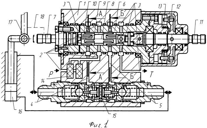 Гидравлический пропорциональный распределитель поворотного типа с обратной связью