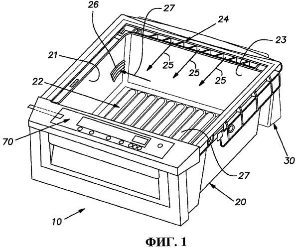 Камера для хранения продуктов с регулируемой температурой