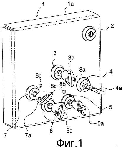 Устройство для хранения и запирания, предназначенное для хранения ключей к замкам