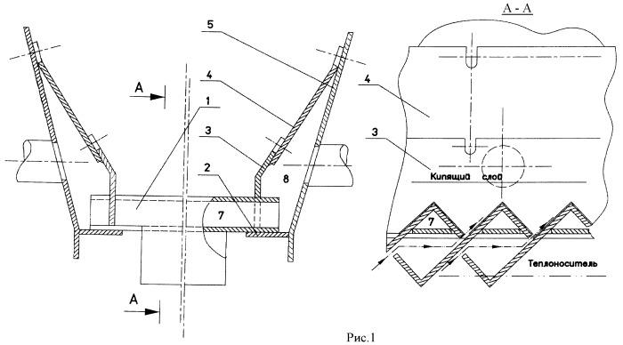 Газораспределительная решетка для аппарата с псевдоожиженным слоем