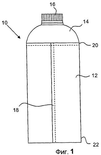 Устройство и способ формования части упаковочного контейнера