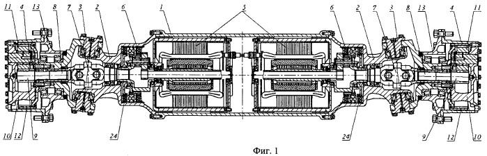 Ведущий управляемый мост транспортного средства