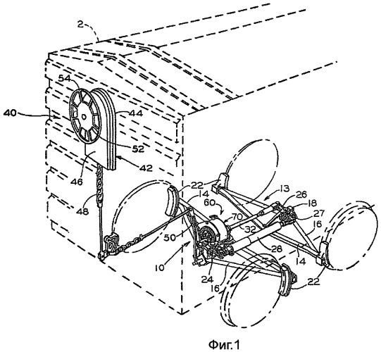 Устройство стояночного тормоза для тормозной системы железнодорожного подвижного состава
