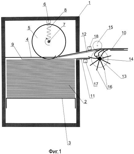 Устройство для помещения листов в пачку и способ его работы