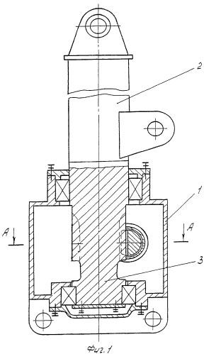 Поворотное устройство несущей стойки гидроманипулятора