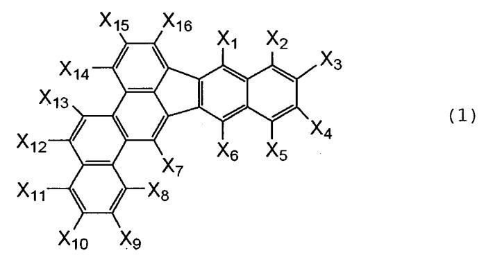Производное бензоинденохризена и его применение в органическом, излучающем свет устройстве