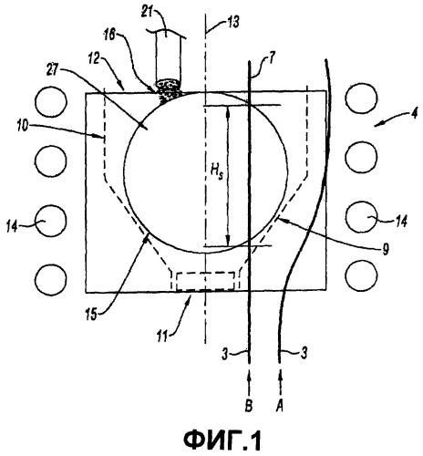 Способ и устройство жидкостного нанесения металлического покрытия на волокна