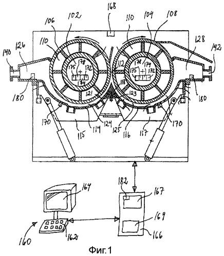 Аппарат для промывки и обезвоживания волокнистой массы, система управления таким аппаратом и способ обработки волокнистой массы на таком аппарате