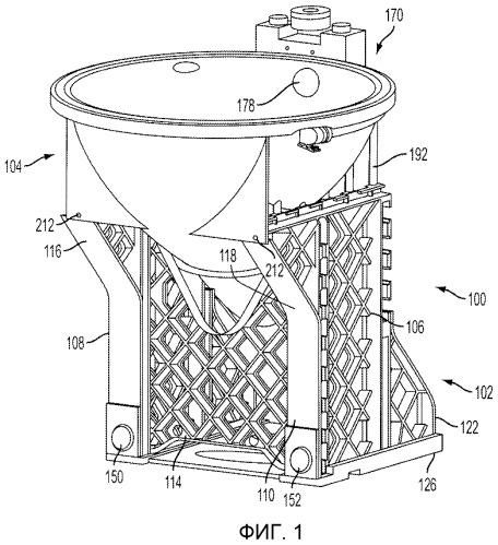 Вакуумная система удаления отходов и способ для ее использования