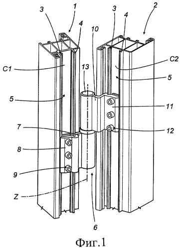Петля для металлических дверных или оконных блоков