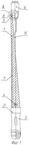 Клиновой отклонитель для забуривания боковых стволов из скважины