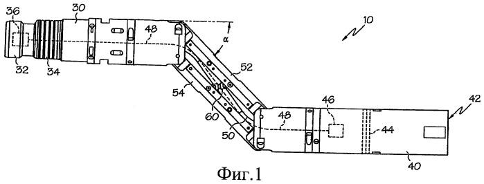 Регулируемое смещающее соединение для скважинных инструментов (варианты)