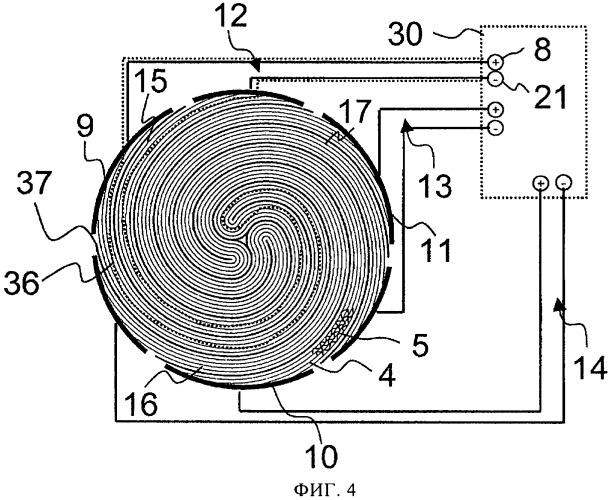 Устройство с крупным электронагреваемым сотовым элементом