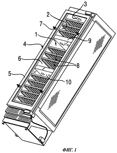 Освещение холодильного аппарата с прозрачной дверкой