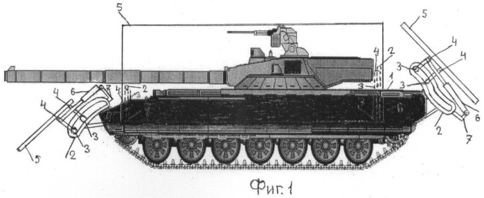 Устройство броневой защиты танков, бронеавтомобилей