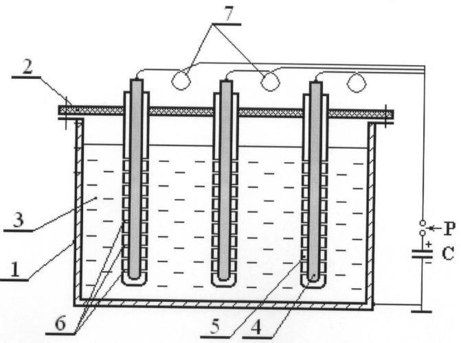 Способ и устройство для получения световых и ударных волн в жидкости
