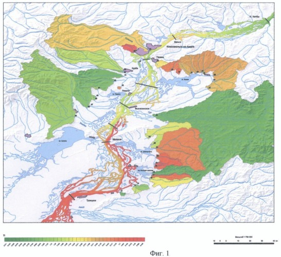 Способ выявления и оценки загрязнения рек тяжелыми металлами и токсичными элементами
