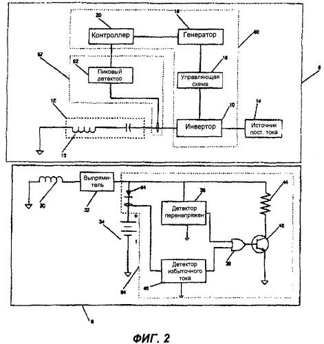Система и способ индуктивной зарядки аккумулятора