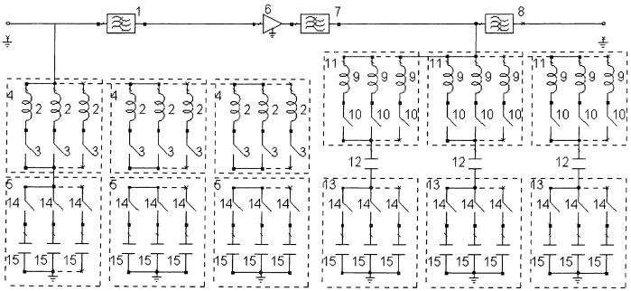 Полосовой lc-фильтр с режекцией сосредоточенных помех в рабочей полосе частот