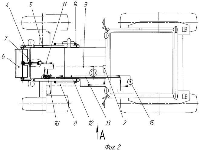 Устройство для регулирования положения балластного груза на полураме трактора