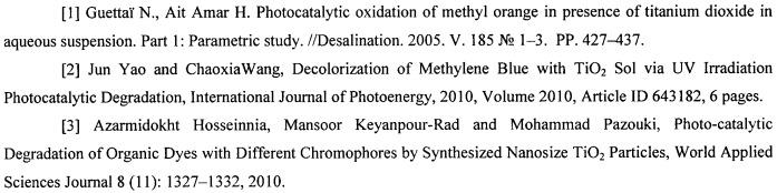 Фотокатализатор на основе наноразмерной  -модификации диоксида титана