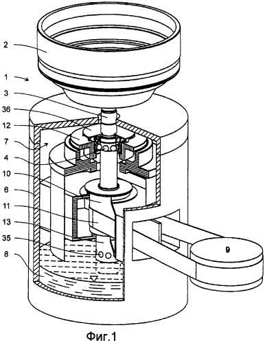 Центробежный сепаратор со смазочным устройством