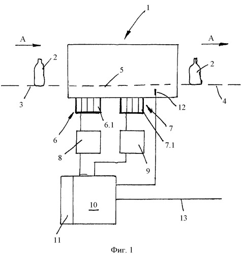Устройство для обработки емкостей и способ эксплуатации устройства
