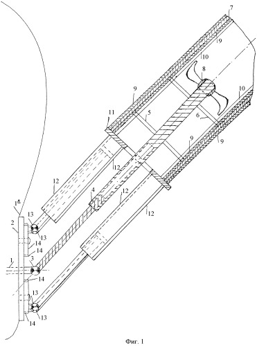 Бесшумное устройство гребного винта маневренной подводной лодки