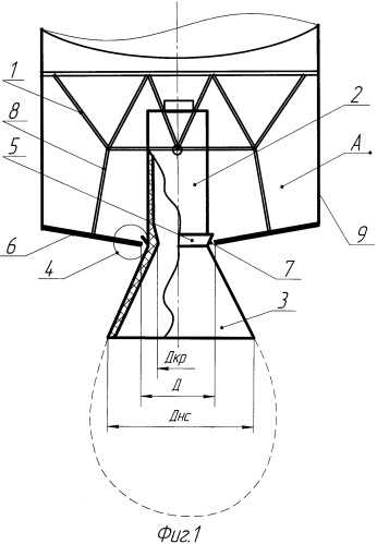 Блок тяги жидкостного реактивного двигателя