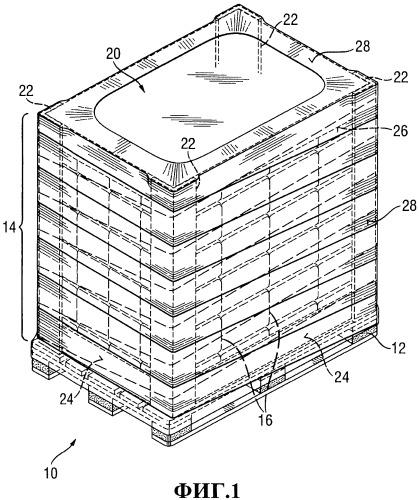 Погрузочная единица для транспортировки абсорбирующих гигиенических изделий