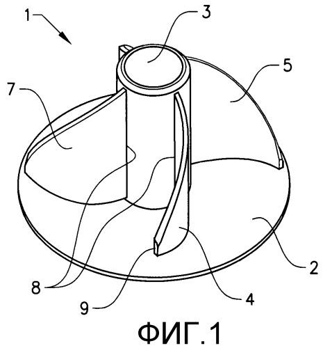 Торцевая заглушка для бумажных рулонов без сердечника
