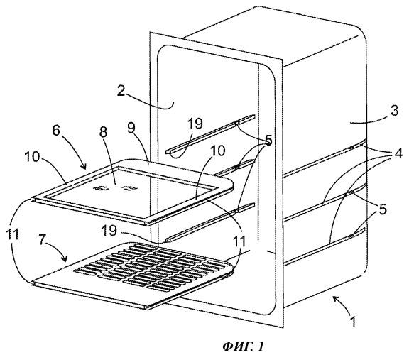 Бытовой холодильный аппарат со вставным элементом