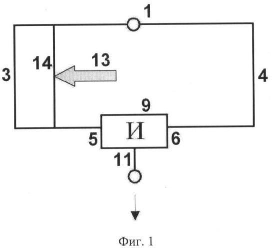 Схема управляемой детонационной логической цепи
