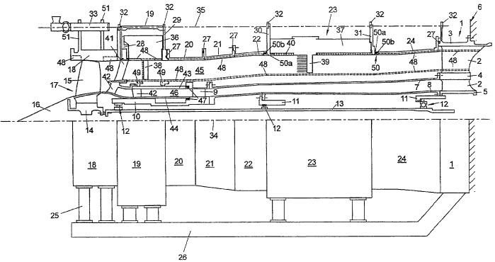 Испытательное устройство для испытания компрессора авиационного двигателя