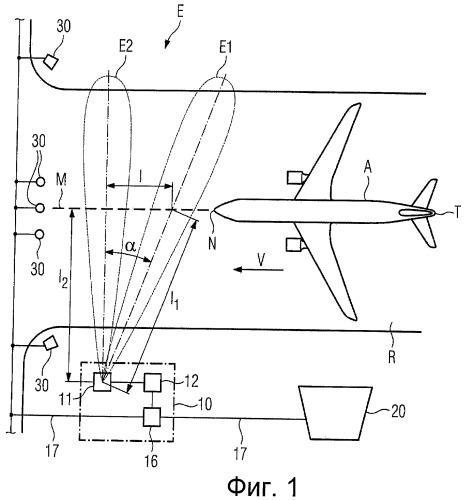 Устройство для обнаружения транспортного средства на полосе аэропорта